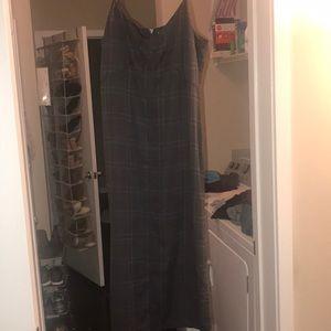 A mid length dress